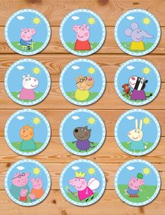 🎂 The perfect addition to your Peppa Pig Party! 🎂 These Peppa Pig Cupcake Toppers help make your party an unforgettable experience! Peppa Pig Birthday Decorations, Peppa Pig Birthday Cake, Peppa Pig Cupcake, Cumple George Pig, Peppa Pig Stickers, Peppa Pig Printables, George Pig Party, Peppa Pig Colouring, Aniversario Peppa Pig