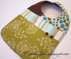 Scrap-Pieced baby Bib....great to use scrap fabric and also for baby showers.