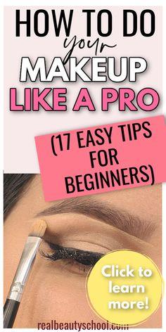Pro Makeup Tips, Fix Makeup, Simple Makeup Tips, How To Do Makeup, Makeup Hacks, Makeup Stuff, Makeup Essentials For Beginners, Basic Makeup For Beginners, Makeup Tutorial For Beginners