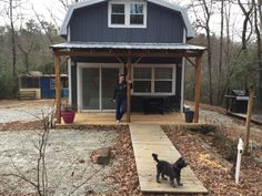 This tiny farmhouse is located outside Clayton Georgia at the feet of the Smokey Mountains. It's 480 sqft open layout makes for a roomy feel. There is a half bath (yup! a toilet and sink) in …