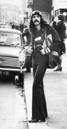 American hippie in London, 1970s