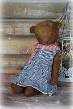 Evie :) OOAK Vintage Style Sweet Artist Teddy Bear by Natali Sekreta -  Antique style  - stuffed - home decor - gift - Birthday