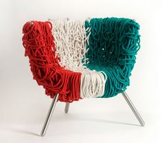 "Campana Brothers ""Italian pride"" Vermelha chair. Made with Wool. (I have plently wool)"