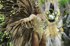 A atriz Cris Viana foi a rainha de bateria da Imperatriz Leopoldinense. Foto: Bruno Gonzalez - Agência O Globo