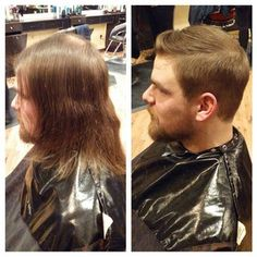 To be clear: This man's new haircut totally took care of the bald spot. | 21 Men Who Will Make You Believe In The Power Of Makeovers
