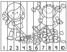 Great for fine motor cutting skills... and counting practice! Color and black and white included. Also includes puzzles for #11-20.