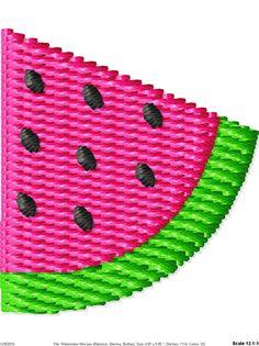 Watermelon Machine Embroidery Design
