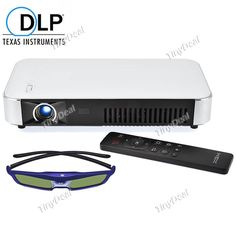 Android4.4 DLP Projector LED 1280 x 800 WiFi Headphone AV RJ45 USB SPDIF HDMI VGA TF OPJ-381361