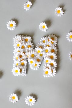 Floral Name Letters with Lorena Canals – see kate sew – Diy Desing 2020 Daisy Party, Paper Flowers Craft, Flower Crafts, Paper Crafts, Name Letters, Diy Letters, Floral Letters, Letter Art, Daisy Decorations