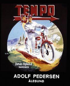 Fylkesarkivet Alesund, Advertising, Ads, Brochures, Corvette, Motorbikes, Motorcycle, Funny, Poster