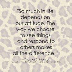 All depends on your attitude.