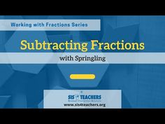 Subtracting Fractions with Springling - YouTube