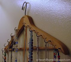 A Heart For Home: Finished Friday: Easy DIY Necklace Holder