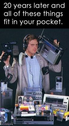 1980s Technology !  I wonder how we can work that in (other than the Car phone bit)?