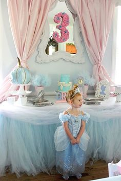 Guest of honor from a Princess Pink Cinderella Birthday Party at Kara's Party Ideas. See more at karaspartyideas.com!
