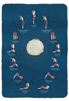 i have got to get my shit together. #yoga #luna yoga #Moon salutation