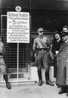 Berlin 1933 Boykott der Juden am 1.April 1933