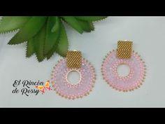 Aretes Sol en Cristales y Mostacillas - YouTube Quilling Earrings, Seed Bead Earrings, Beaded Earrings, Seed Beads, Jewelry Making Tutorials, Beading Tutorials, Bead Embroidery Jewelry, Beaded Embroidery, Shoe Makeover