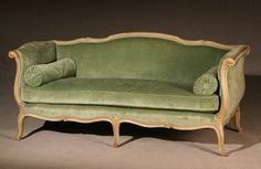 Louis XV Style Gray Painted Beechwood Canapé  Early 20th Century Fine Furniture & Decorations - Sale 1291 - Lot 290 - ADAM A. WESCHLER & SON, INC : AUCTIONEERS AND APPRAISERS - SINCE 1890