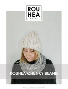 Knitting pattern: ROUHEA Chunky Beanie // Chunky beanie