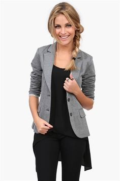 Zagger Blazer in Heather Grey » Love the elbow patches too.