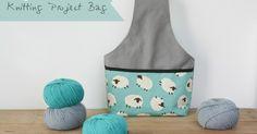 knitting project bag tutorial by ganxetades Knitting Designs, Knitting Projects, Knitting Patterns, Sewing Projects, Arm Knitting, Tutorial Colar, Diy Sac, Yarn Bag, Craft Bags