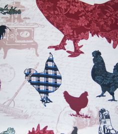 45'' Home Inspirations Fabric-Rooster Patch at Joann.com