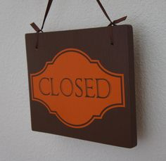 Open Closed sign for business Double Sided by Frameyourstory, 29.99
