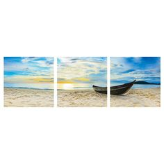 Furinno Senia Wall Mounted Triptych 3 Piece Photographic Print Set