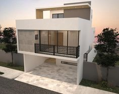 CASA AMI: Casas de estilo moderno por Nova Arquitectura Minimalist House Design, Small House Design, Minimalist Home, Modern House Design, Main Entrance Door Design, White Apartment, Narrow House, Box Houses, Loft House