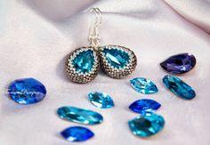 Сегодня речь пойдет о крупных кристаллах Сваровски ювелирной огранки. В прошлый раз мы учились использовать в вышивке кристаллы Сваровски в оправе, сегодня мы их оплетем бисером. Материалы и инструменты: Бисер круглый Miyuki 15/0.