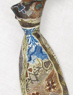 "Coogi Colorful 3 7/8"" Wide Silk Tie"