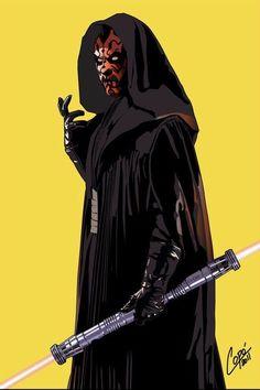 Star Wars - Darth Maul by Jorge Copo Darth Maul, Star Wars Sith, Clone Wars, Saga, Jedi Sith, The Phantom Menace, Star Wars Episodes, The Villain, Science Fiction