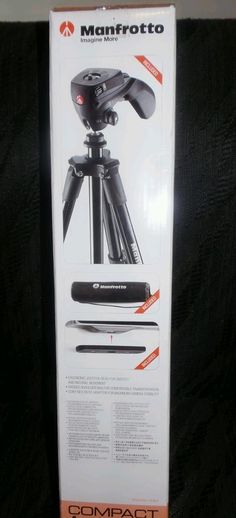 Manfrotto Image More Compact Action Tripod w/ Joystick Head Plus Bag New #Manfrotto
