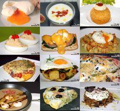 Doce recetas con huevos