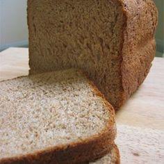 Whole Wheat Honey Bread - pretty darn near perfect bread machine bread! Just increase the salt to 1T.