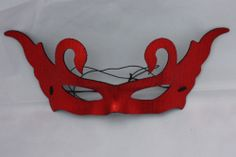 Masquerade Masked Ball Eye Face Mask Sexy Halloween Italian Red Metallic Devil