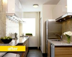 Kitchen Before & After: A Cramped NYC Kitchen Gets a Chic Makeover — Professional Kitchen Remodel