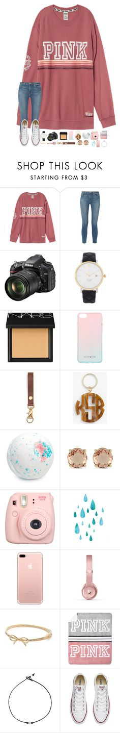 """·goodbye Atlanta😞·"" by mackenzielacy814 on Polyvore featuring Frame, Nikon, Kate Spade, NARS Cosmetics, Felony Case, Moon and Lola, Jessica Simpson, Beats by Dr. Dre, Victoria's Secret and Converse"