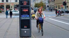 Ciclista em Copenhague