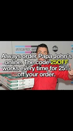 Want 25% off papa johns pizza everytime?
