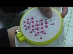 ▶ How to make Hand embroidery Sindhi straight stitch in Urdu/Hindi - YouTube