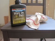 tutorial to seal your spray painted furniture