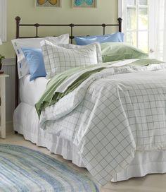 280-Thread-Count Pima Cotton Percale Comforter Cover, Windowpane from L.L.Bean on Catalog Spree