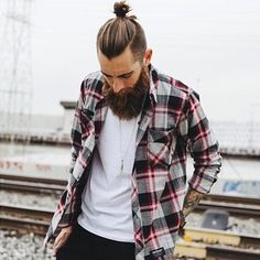 Topknot hairstyle is the best example of hipster haircut for men