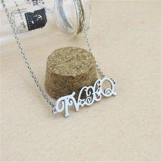 TVXQ DBSK Tohoshinki Styled Letter Pendant Rolo Chain Elegant Necklace #TVXQ #DBSK #Tohoshinki #Styled #Letter #Pendant #Rolo #Chain #Elegant #Necklace #Kidolstuff