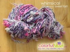 Handspun Yarn by Colorful Nest Thick-n-Thin Sweet Tart Colorway $32.50 - save 10% now with code PIN10 at https://www.etsy.com/listing/72177201/handspun-yarn-by-colorful-nest  #knitting #yarn
