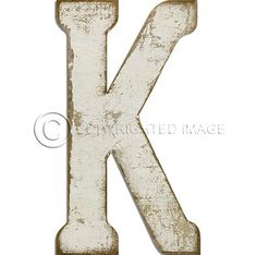 Letter Y White Cutout  Vintage Distressed Letter Decor