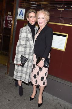 Sarah Paulson Lovingly Supports Girlfriend Holland Taylor at Her Broadway Opening Night