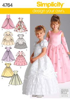 Toddler Patterns - Simplicity Child Special Occasion Dresses Pattern  I'm thinking Halloween or dress up